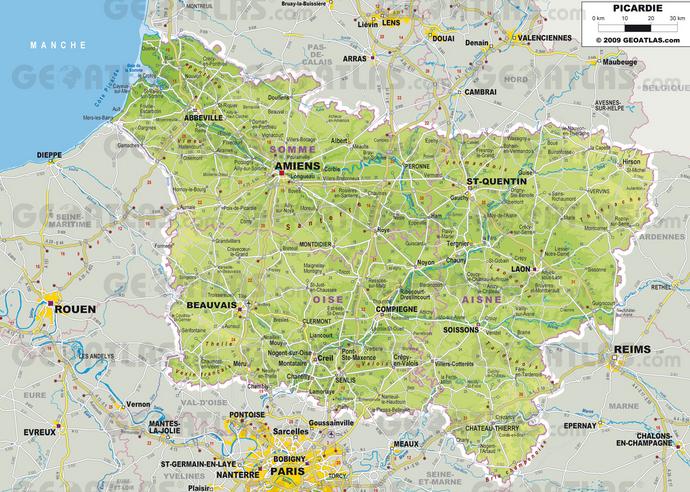 carte Amiens