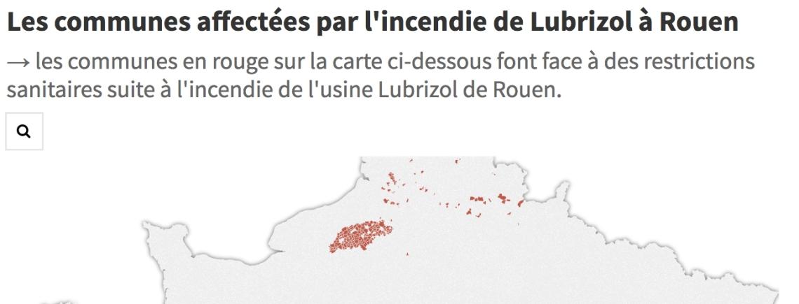 CARTE REMI - commune impacté par Lubrizol