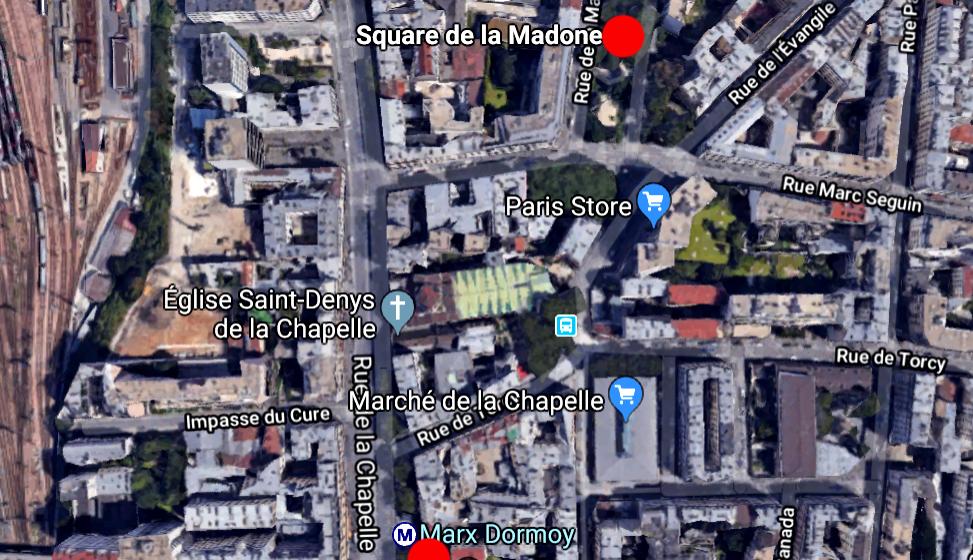 CARTE-SQUARE DE LA MADONE