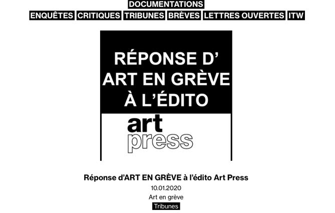 reponse ART PRESS - documentations